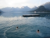 Morning swim, Lake Annecy - France
