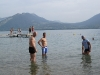 After ride swim in Lake Annecy - France